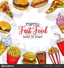 fast food vector sketch menu template u2014 stock vector seamartini