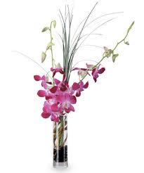 dendrobium orchids blooming orchid vase floral arrangements woyshners flower shop