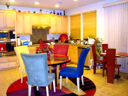 bathroom exciting bright dining room orange ack chairs colorful