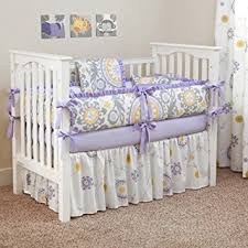Lavender And Grey Crib Bedding Custom Boutique Baby Bedding Suzani Lavender 5 Pc