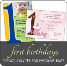 1st year birthday invitation cards sample image collections