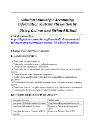 accounting information systems 7th edition by gelinas solution