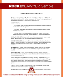 5 software license agreement templatereport template document