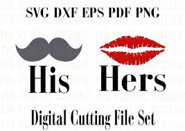 studio his and hers his and hers svg cut file design couples file with