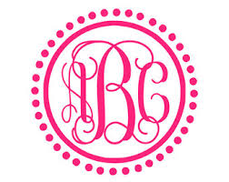 monogram car decal monogram car decal etsy