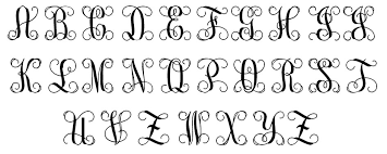 monogrammed fonts fonts colors patterns my capital letters