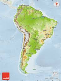 Blank Map Of South America by Physical Map Of South America Lighten