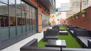 Restaurant Patio Design by Contemporary Restaurant Opens With Synthetic Grass Patio Nexgen