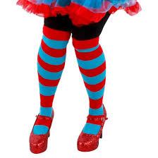 cat in the hat costume cat in the hat thing 1 and thing 2 striped costume knee