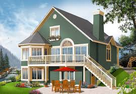 round garage plans plan 21960dr year round cottage with options rounding walkout