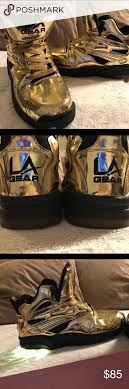 la light up shoes metallic gold la gear la lights sneakers metallic gold metallic