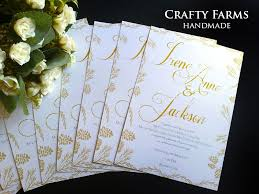 Weddings Cards Wedding Card Malaysia Crafty Farms Handmade Rustic And Gold