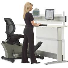 Stand Up Desk Exercises The Elliptical Machine Office Desk Hammacher Schlemmer