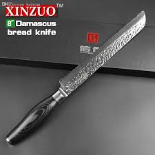 highest quality kitchen knives wholesale xinzuo 8 inches bread knife cake knife 73 layers