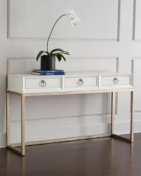 white console table with drawers using a console table as a desk in small spaces recent fashion