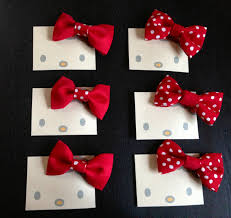 hello bows hello party favors that i made for my girl s