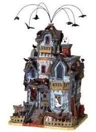 140 best halloween villages images on pinterest halloween