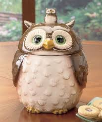 owl kitchen canisters ceramic forest friends owl cookie jar canister lcl http www