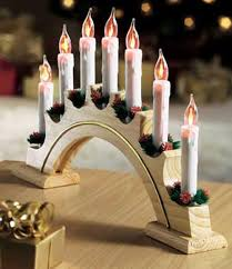 flickering candle arch christmas lights by new asia christmas