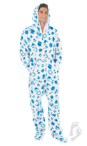 hanukkah hoodie one hooded footed pajamas one