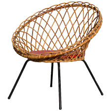 All Weather Wicker Outdoor Furniture Terrain - jacques adnet style woven lattice bamboo hoop chair contemporary