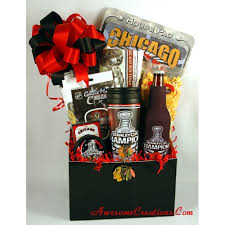 gift baskets chicago chicago blackhawks fans just a something