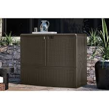 83 Gallon Deck Box by Bar Height Patio Furniture Outdoor Storage Cabinet Store Cushions