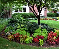 Shady Garden Ideas Landscape Ideas For Front Of House Shade With Beautiful Plants