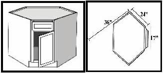 diagonal corner kitchen base cabinet bcd36 kitchen corner base cabinet diagonal 34 1 2 h x 36