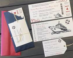 cruise wedding invitations cruise wedding invitations etsy