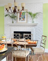 Painted Stone Fireplace Interior Design House Cubtab Decorations Stacked Stone