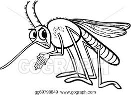 vector stock mosquito insect coloring clipart illustration
