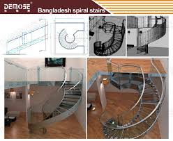 Small Space Stairs - steel wood round small space stairs staircases design for sale