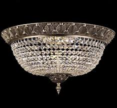 Large Flush Mount Ceiling Light by Corinthian Collection 22 U2033 Dia Large Brass U0026 Crystal Flush Mount