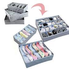 underwear organizer 3pcs sock bra underwear closet drawer organizer storage box bamboo