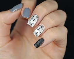 music note nail design gallery nail art designs