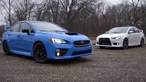 mitsubishi evo 2016 not a comparison test mitsubishi lancer evo vs subaru wrx sti