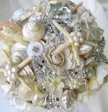 wedding bouquets with seashells ivory sea shell bouquet wedding bouquet brooch bouquet seashell
