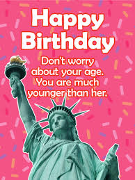forever younger than her funny birthday card birthday