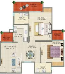 1115 sq ft 2 bhk floor plan image charms india castle available