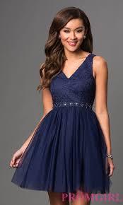 short v neck lace top party dress promgirl