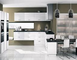 meuble de cuisine blanc brillant cuisine blanche cuisine en image