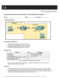 ccna 1 skills final with answers computer network gateway