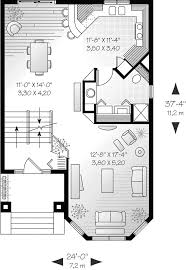 House Plans And More Com by Comstock Narrow Lot Townhouse Plan 032d 0619 House Plans And More