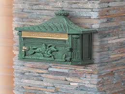 Wall Mount Mailbox With Flag Decorating Interesting Exterior Home Design With Wall Mount
