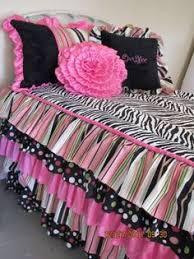 Custom Girls Bedding by Vintage Poppies Ruffled Girls Bedding By Likemymotherdoes On Etsy