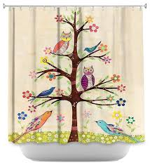 Tree Curtain Shower Curtain Unique From Dianoche Designs Owl Bird Tree Ii