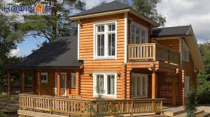 2 story log house xd 124 habitable space of 124 90 m κοφινάς
