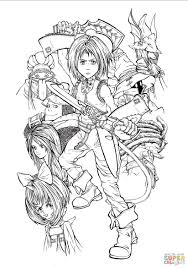 full time playable characters of final fantasy ix coloring page