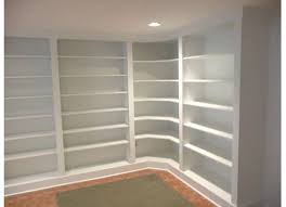 bookcases corner units furniture white painted wooden built it corner shelves which